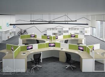 职员屏风办公桌YB-007