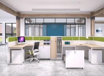职员屏风办公桌YB-016