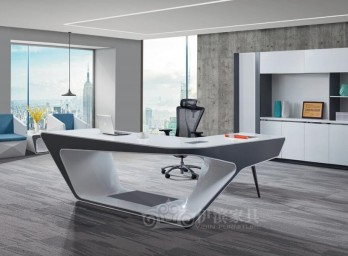 白色烤漆办公桌YB-006