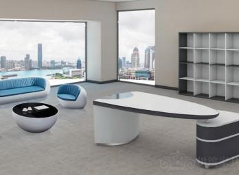白色烤漆办公桌YB-005