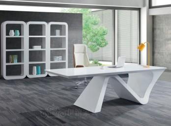 白色烤漆办公桌YB-003