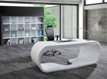 白色烤漆办公桌YB-001