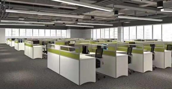 新交付的办公室家具配套展示